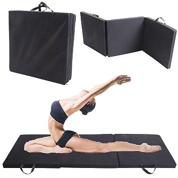 MuGuang Tri plegable ejercicio estera de Yoga Fitness ...