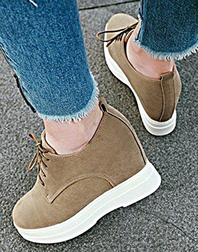 Mode Easemax Femme Rond Plateforme Talon Sneakers Compensé Bout gqFH5qn