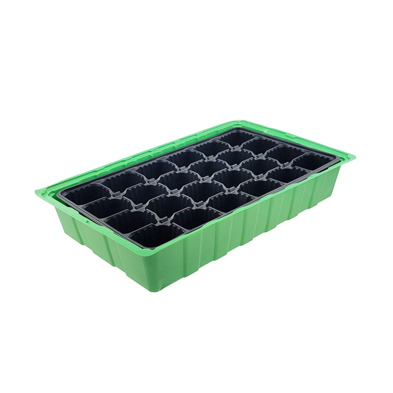 4 x Invernadero - para hasta 96 Plantas, aprox. 36 X 22 X 12 cm (LxBxH) por Mini invernadero, plástico, verde/negro/transparente: Amazon.es: Jardín