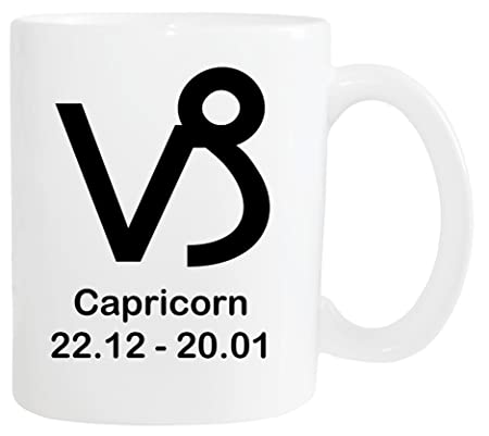 Mister Merchandise Mug Coffee Pot Zodiac Sign Capricorn
