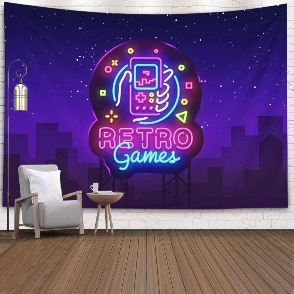 3D Retro Gate Patterned Tapestry Room Wall Hanging Tapestry Home Art Decor USA