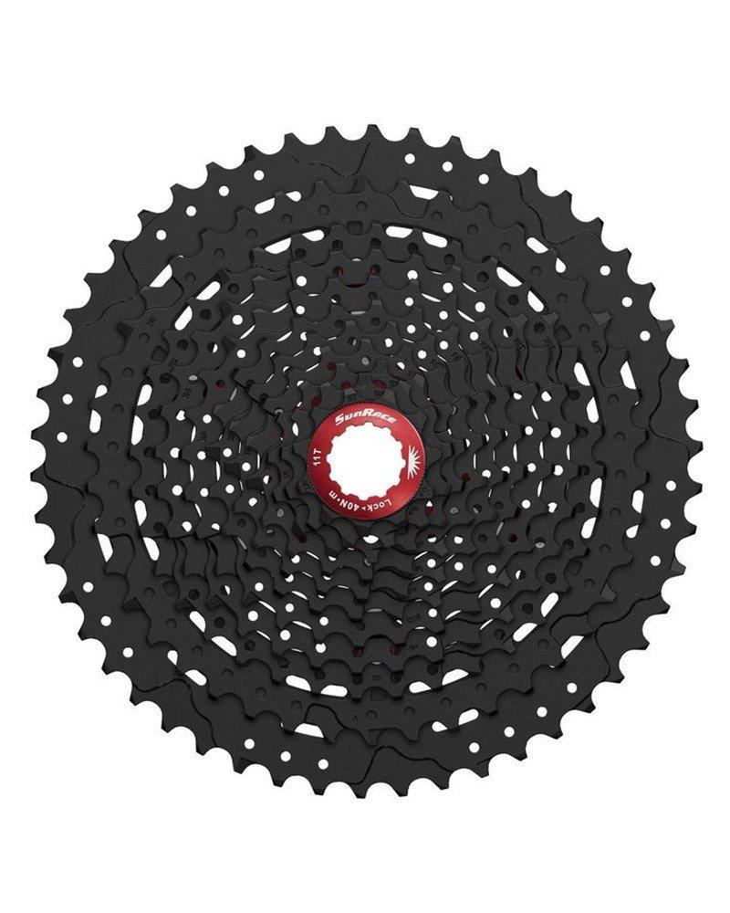 Sunrace - Casete de piñones para mountain bike, proporción amplia MX8, 11 velocidades, 11-50 dientes, negro (Casete para mountain bike) proporción amplia MX8
