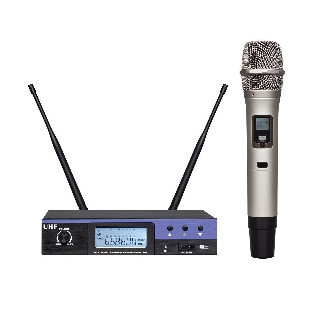 Wireless Microphone System Professional UHF with Handhelds microphone microfone For Church,Home Karaoke, Business Meetings.Easy To Set Up