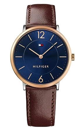 Reloj analógico para hombre Tommy Hilfiger 1710354, mecanismo de cuarzo, diseño clásico, correa de piel.: Tommy Hilfiger: Amazon.es: Relojes