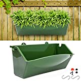 KORAM 12-inch Vertical Garden Planter Wall Mount Hanging Flower Box Living Wall Planter Plant Pots...