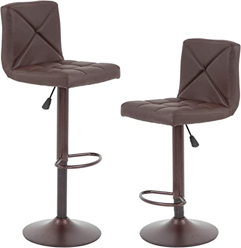 Bar Stools Set of 2 Counter Height Stool Modern Swivel Barstool
