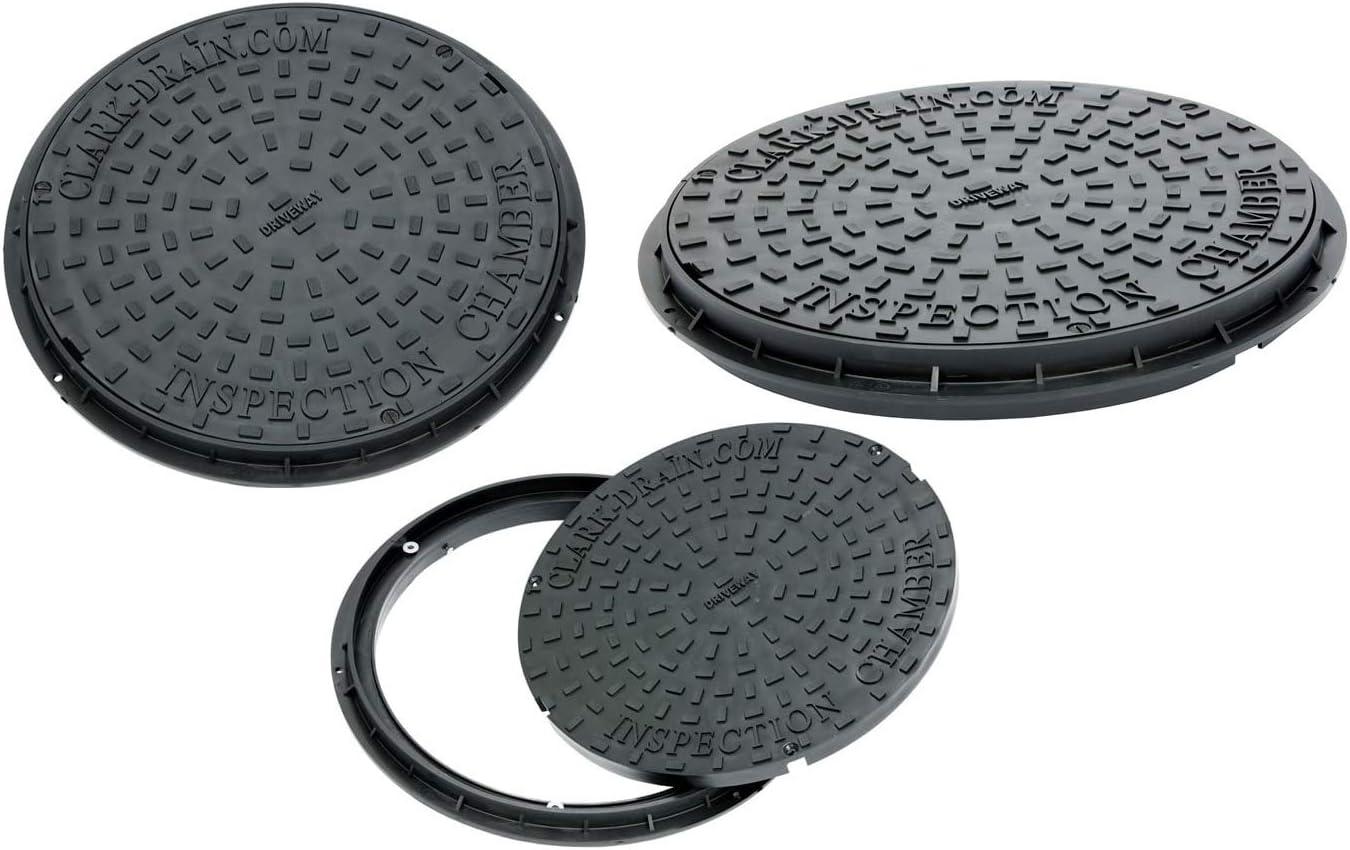 Clark-Drain Couvercle de plaque d/'/égout rond polypropyl/ène avec double verrouillage et cadre de 550 mm 3,5 tonnes convient /à tous les supports de 450 mm CD452