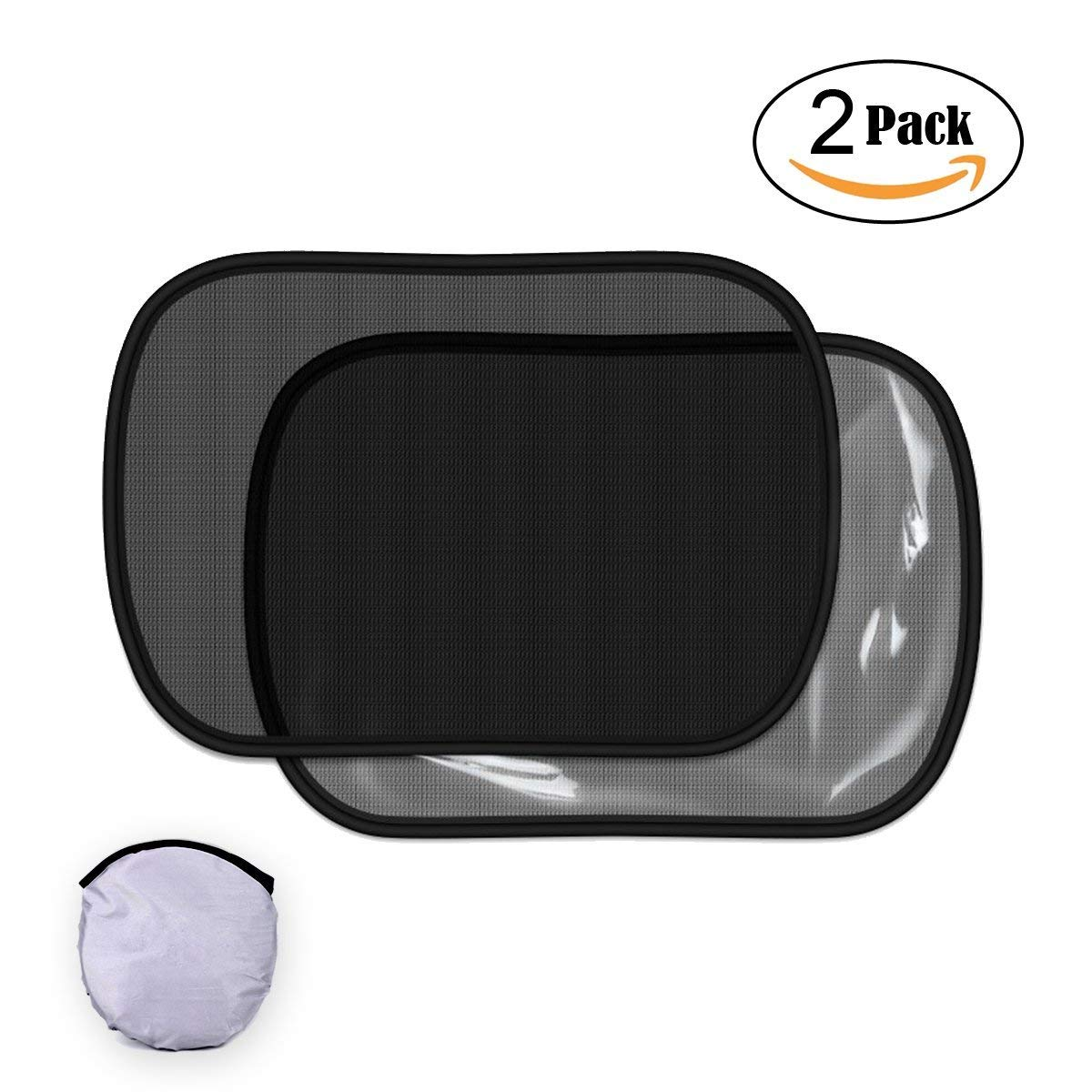 30 cm 2 Pack Car Window Sun Shades for Baby Static Cling Car Side Window Sun Visor for Kids Protect Child from Sun Glare Blocking Harmful UV Rays and Heat Universal 50