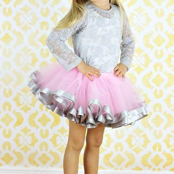 EFINNY Toddler Baby Girls Tutu Skirts Ballet Dance Wear Bubble Tulle Pettiskirt