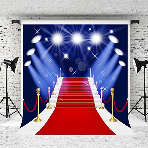 Kate 6.5x10ft Red Carpet Photography Backdrops Lighting Stage Customized Photo Background for Studio Prop from Kate