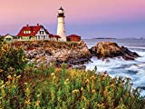White Mountain Puzzles Maine Lighthouse - 1000 Piece Jigsaw Puzzle