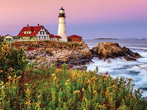 White Mountain Puzzles Maine Lighthouse - 1000 Piece Jigsaw Puzzle ()