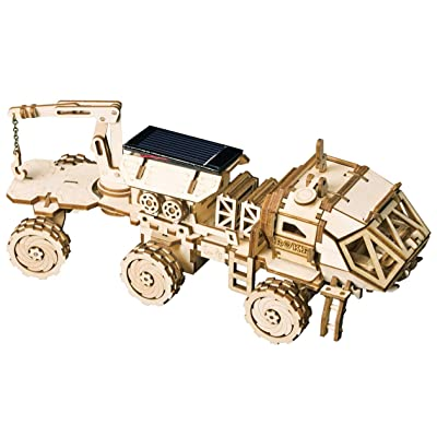 RoWood Space Hunting Navitas Rover - DIY 3D Wooden Puzzle Model Solar Car Craft, Science Experiments Kit for Kids Ages 8+: Toys & Games