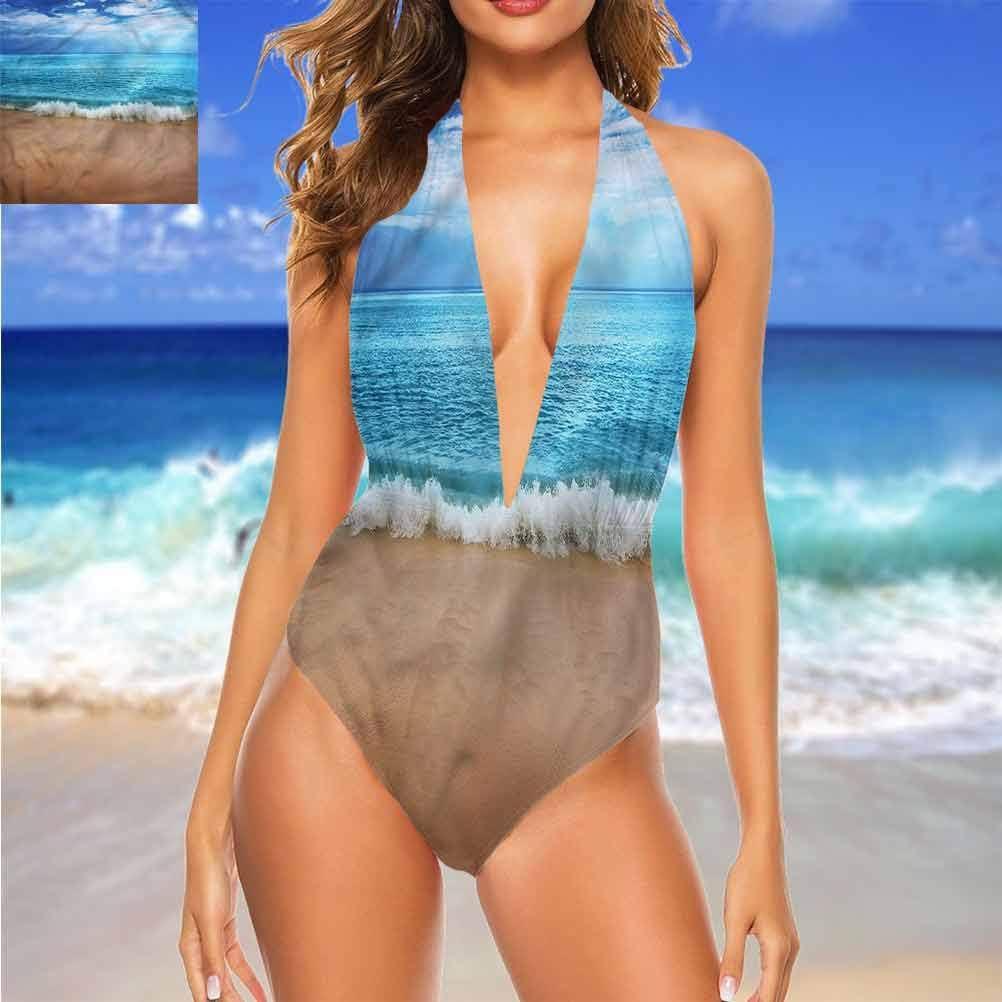 Adorise Ensemble de bikini imprimé pour femme Occulte fille sous le soleil super mignon et unique Multi 19