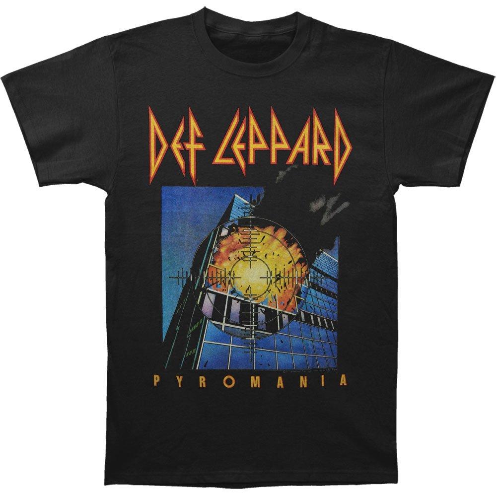 Def Leppard Men's Pyromania Cover T-shirt X-Large Black