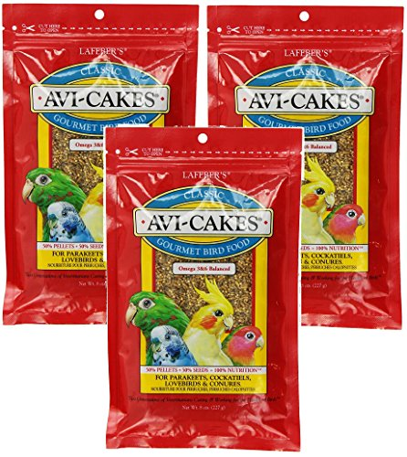 (3 Pack) Lafeber's Original Flavor Avi-Cakes for Parakeets, Cockatiels & ()