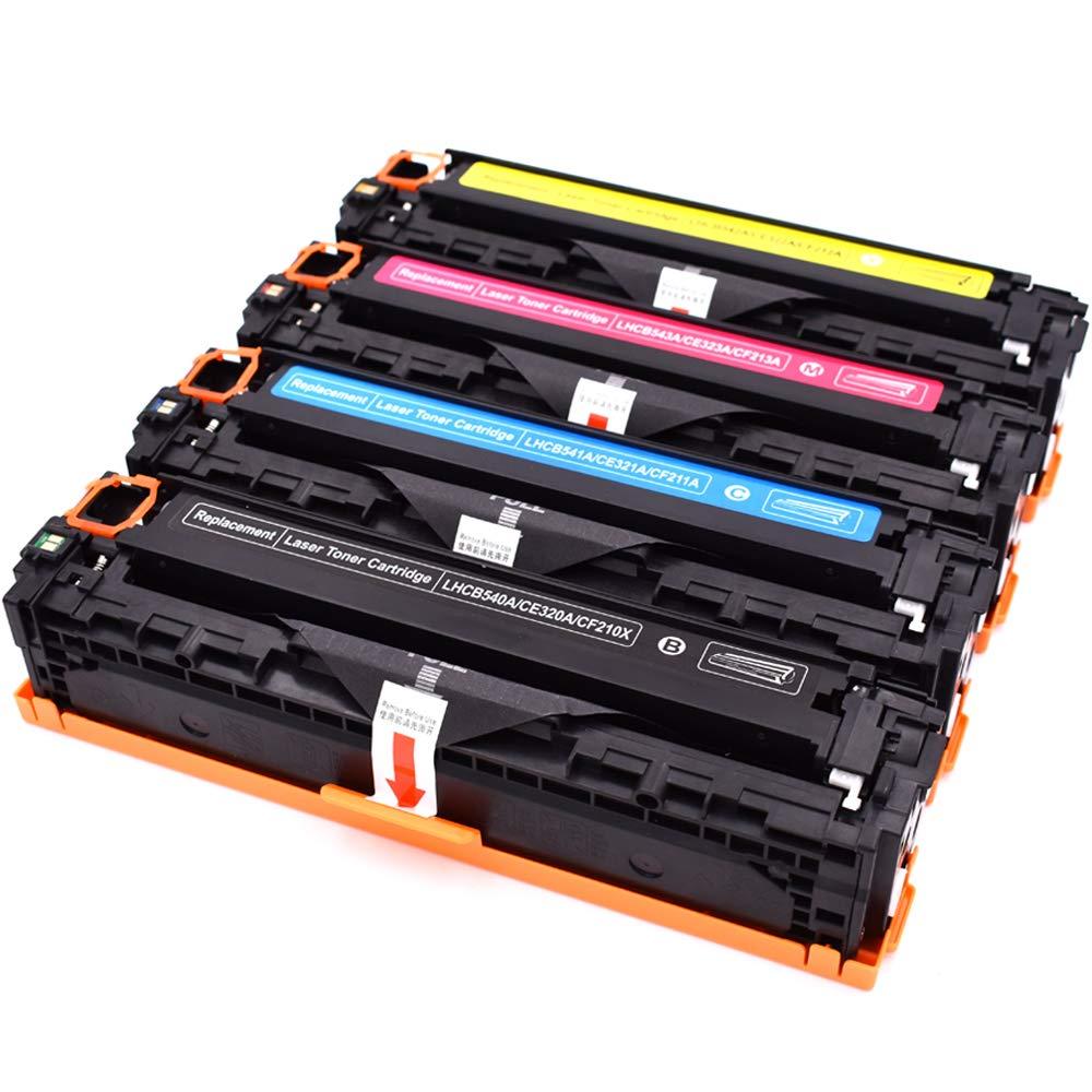 4 Stü cke Kompatible Tonerkartusche Austausch 125A CB540A CB541A CB542A CB543A kompatibel fü r HP CP1210 CP1215 CP1215N CP1217 CP1510 CP1510 CP1514 CP1514N CP1514N CP1518N CM1312NF CM1312N Drucker Ink & Toner Family