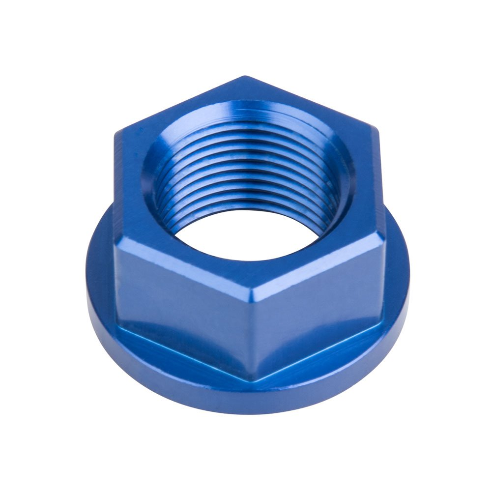 7602 Racing Front Axle Nut Blue - Fits: BETA 125 RR-S 2017-2018
