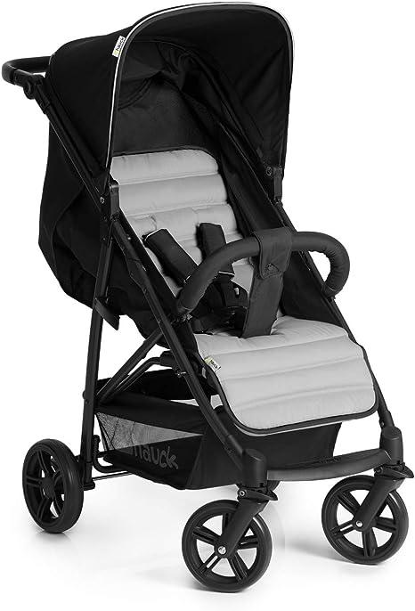 Opinión sobre Hauck Rapid 4 Cochecito de 0 meses a 22 kg, plegable, compacto, con una mano, con posición para dormir, manija ajustable en altura, cesta grande, negro/gris