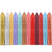 Mudder 12 piezas de sellado antiguo se pega con mecha para sello de sello de cera retro vintage (colores surtidos)