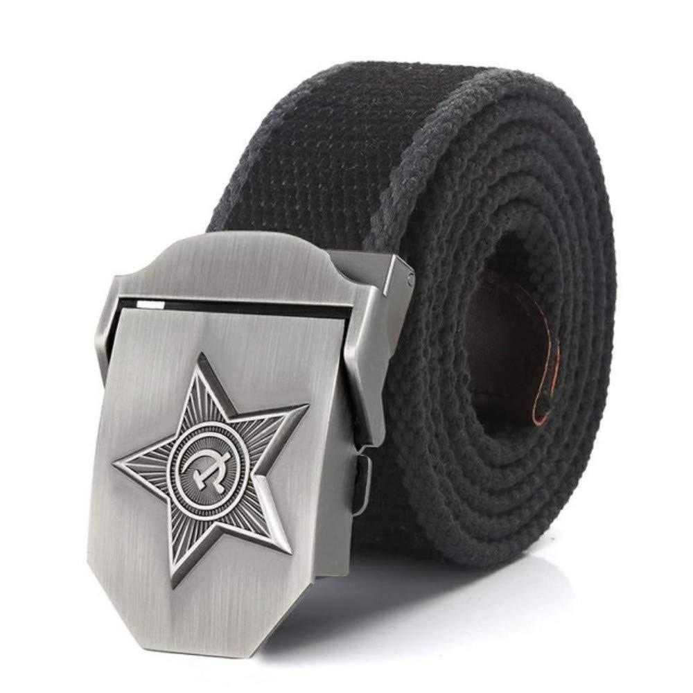 Belt Men&Women 3D Five Rays Star Military Belt Army Belt Patriotic Retired Soldiers Canvas Jeans Belts