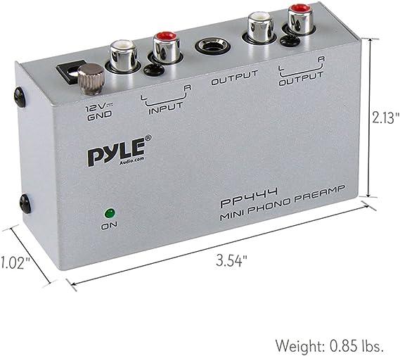 Amazon.com: Preamplificador ultracompacto PYLE-PRO PP444 de ...