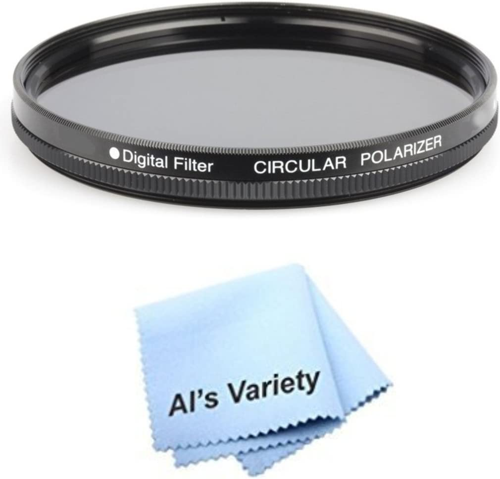 Microfiber Cleaning Cloth for Canon VIXIA HF R52 CPL 43mm Circular Polarizer Multicoated Glass Filter