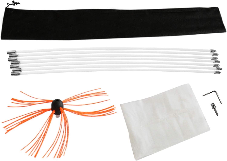 Deshollinador Cepillo Nylon Cepillo Kit Flexibles Varillas