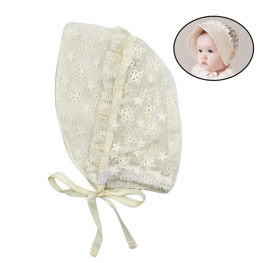 Newborn Baby Pilot Hat Soft Cotton Bonnet Cap Hollow Floppy Sun Hat for Toddler Infant Girls