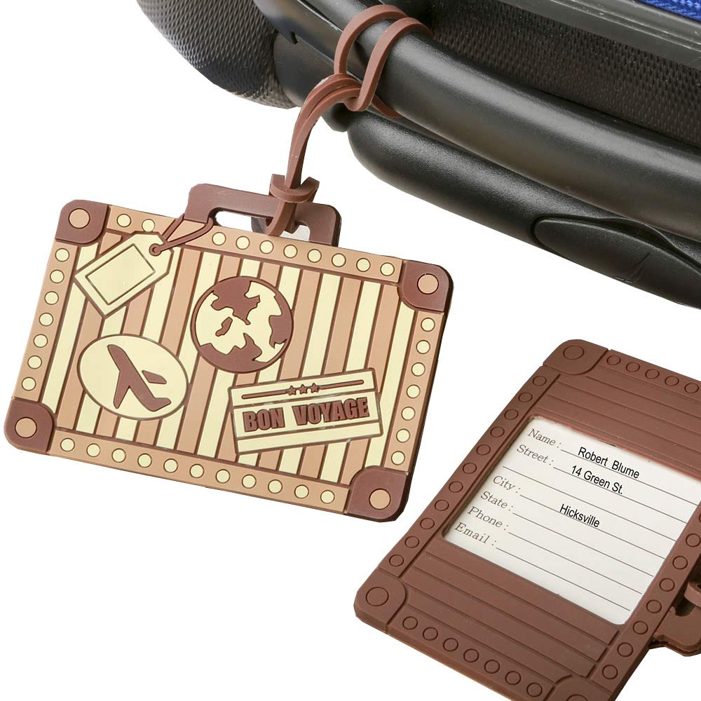 VINTAGE SUITCASE DESIGN LUGGAGE TAG FAVOR by FASHIONCRAFT (96)