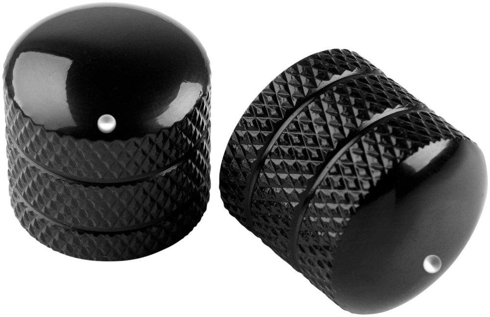 Proline Metal Dome Control Knob 2 Pack Black