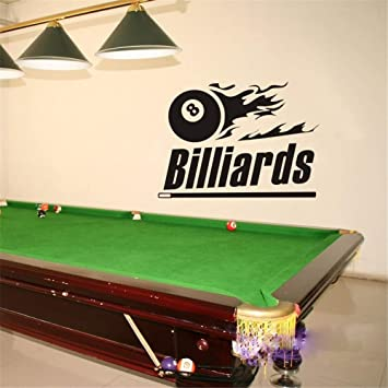 pegatina de pared pegatina de pared 3d Billar Sticker Snooker ...