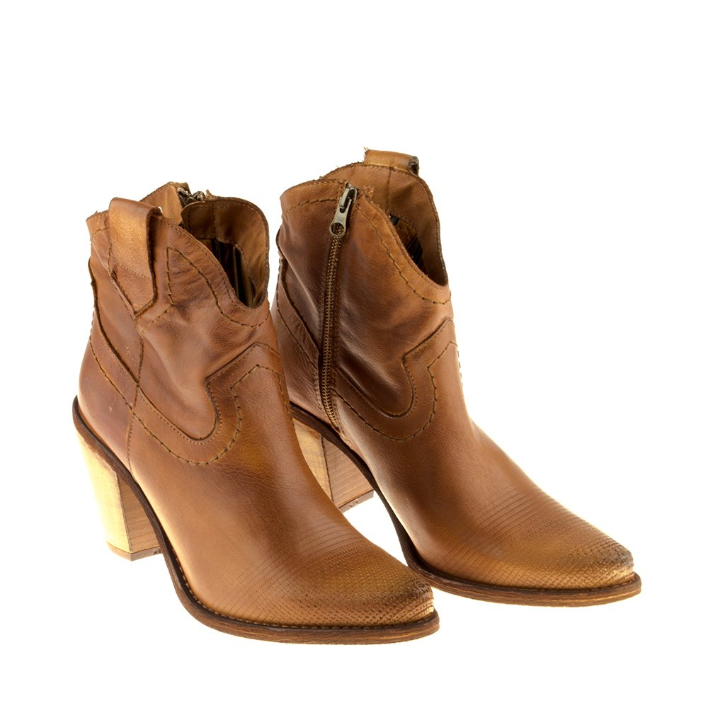 Felmini - Zapatos para Mujer - Enamorarse com Stones 8096 - Botines Cowboy & Biker - Cuero Genuino - Camel - 41 EU Size: Amazon.es: Zapatos y complementos