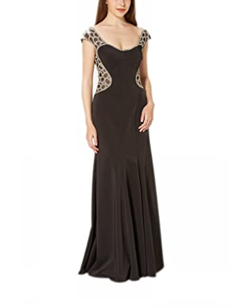 New Vogue Womens Gorgeous Beading Jersey Evening Prom Dress,Evening Gown
