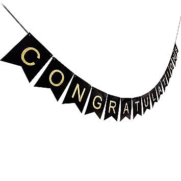 amazon com ahaya congratulations congrats banner swallowtail