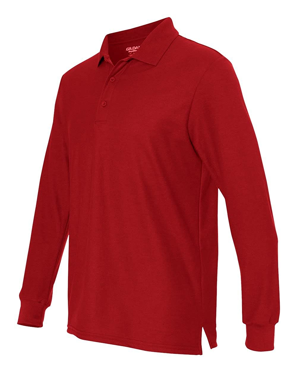M G729 Pack of 12 Red Gildan DryBlend Double Piqu Long-Sleeve Polo