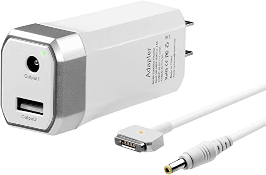 Compatible With Macbook Pro Charger 60W Magsafe 2 T-Tip Power Adapter Charger for Macbook Pro with 13-inch And MacBook Air 11-inch /& 13-inch LATE 2012