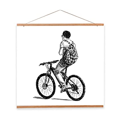 Amazon.com: Large Magnetic Wooden Photo Frame DIY Custom Poster and ...