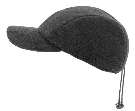 The Hat Company Mens Winter Logan Fleece Baseball Cap (Black ... bb1892e2d66b