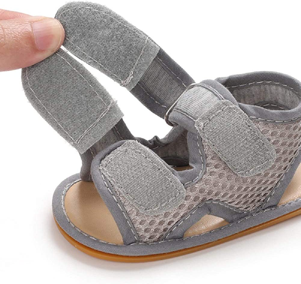 Jonbaem Infant Toddler Baby Boys Girls Summer Sandal Shoes Breathable Newborn First Walkers Crib Shoes for 0-18 Months Baby
