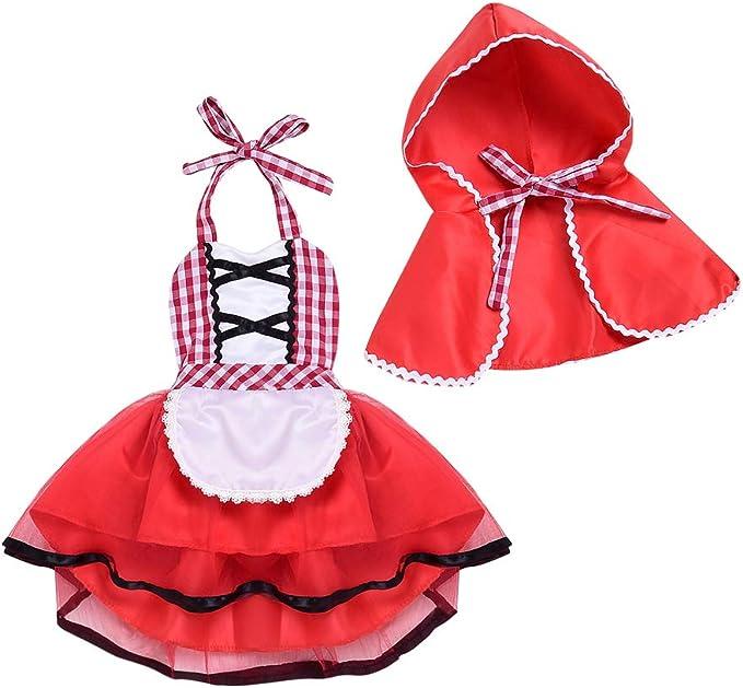 FYMNSI Niña Bebé Disfraz de Caperucita Roja con Capa Cuento de ...