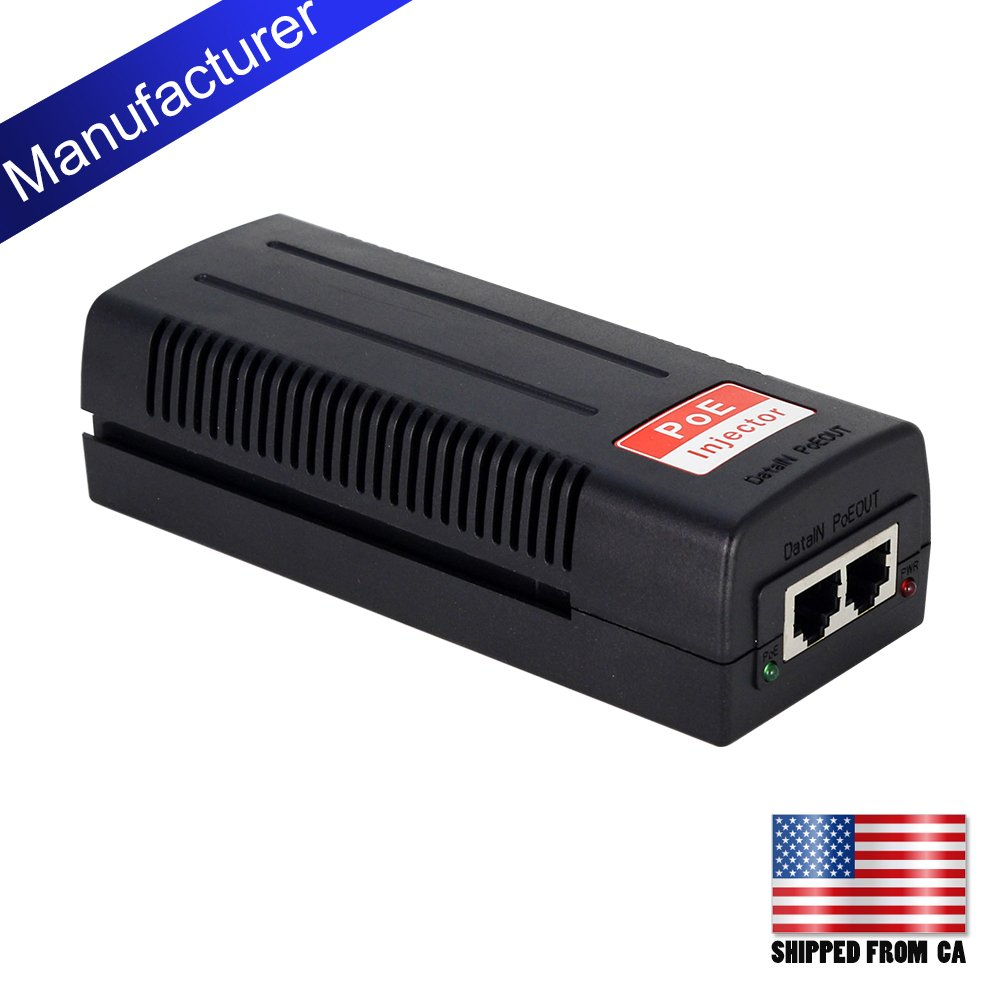 centropower Gigabit Port Power Over Ethernet Plus PoE+ Injector Built in Adaptor 30W 802.3at (POE-M911)