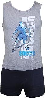 Sanetta - Unterwäscheset Hemd und Boxershorts Jungen, grau-blau grau-blau - 164grau-blau 343281/343273