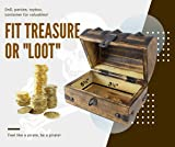 """Wooden Pirate Treasure Chest 6.5 x 4.5"""" x 4.5"""" with"""