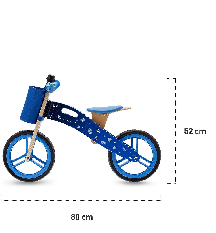 Kinderkraft Laufrad RUNNER Galaxy Kinderlaufrad Lauflernrad mit Zubeh/ör aus Holz 12 Zoll ab 3 Jahre blau
