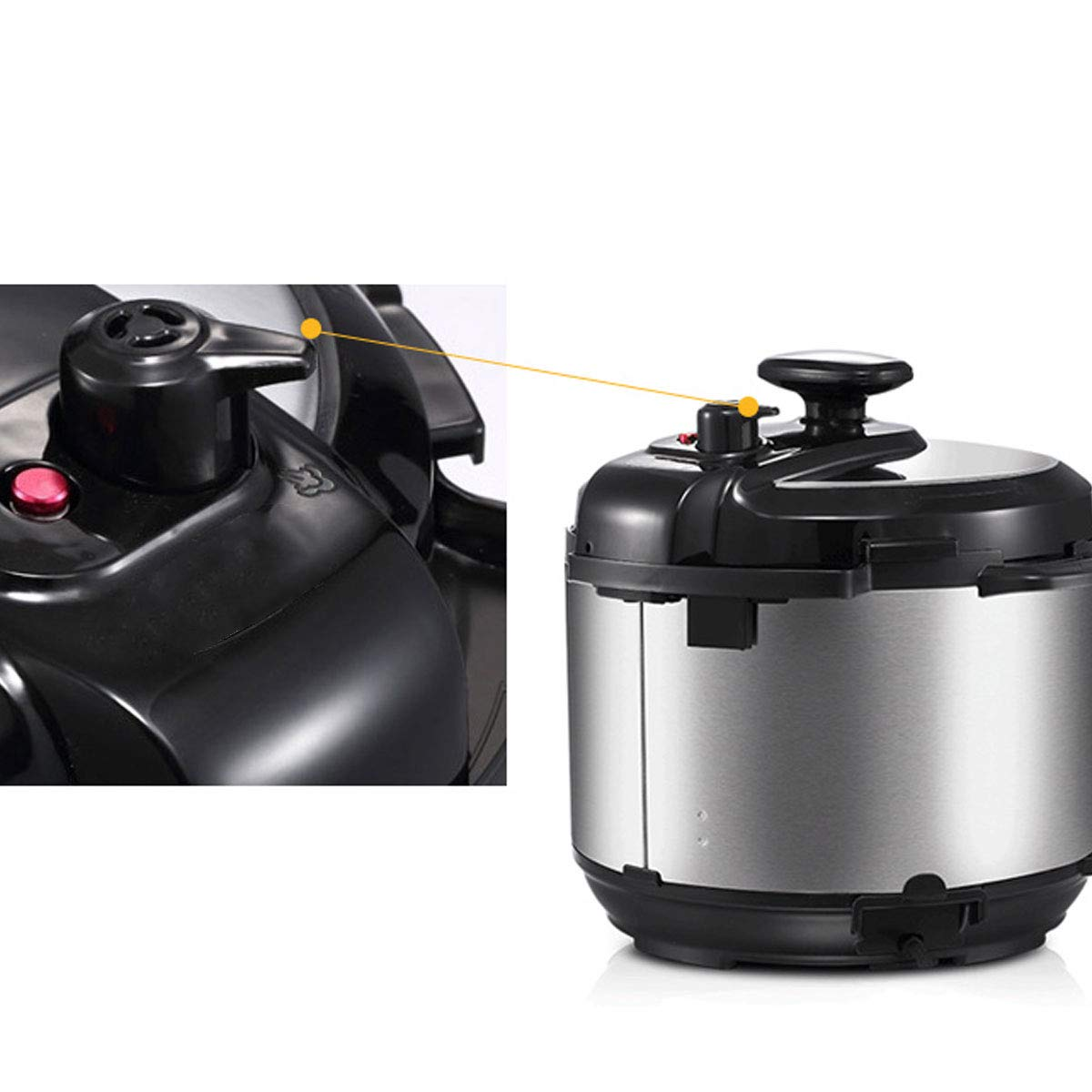 Freebily Steam Release Valve for Instant Pot Duo Mini 3 Qt Duo Plus Mini 3 Qt DUO60 6 Qt and DUO80 8 Qt Programmable Pressure Cooker Black One Size by Freebily (Image #3)