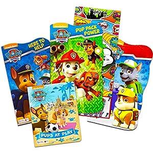 Nick Jr PAW Patrol Board Book Set -- 4 Shaped Board Books for Toddlers Kids with Door Hanger (Super Set)