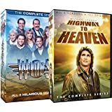 Highway to Heaven The Complete Series + Wings Complete Series TV Bundle