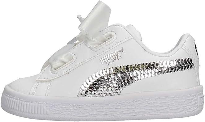 PUMA Chaussures de Sport Basketball Heart Bling Filles Blanches 36684902