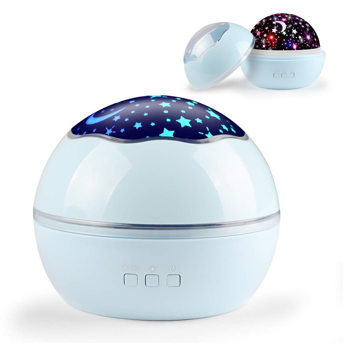 Star Light Night Proiettore Lampada, Sunvito 360° Che Girano Romantico Moon Sky Proiettore Stelle Bambini, Regali di Natale, Camera, Matrimonio, Compleanno, Vacanze